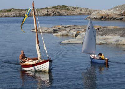 Skärgård segelbåt
